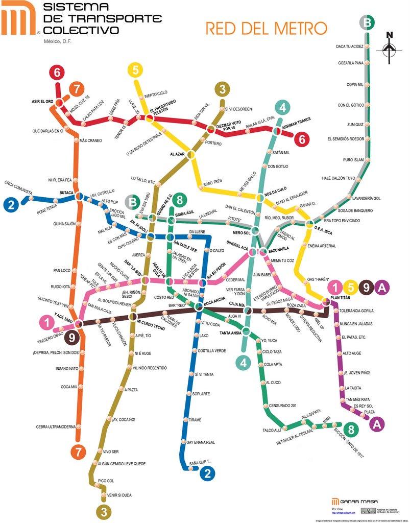 Mapa Lineas Del... Metro
